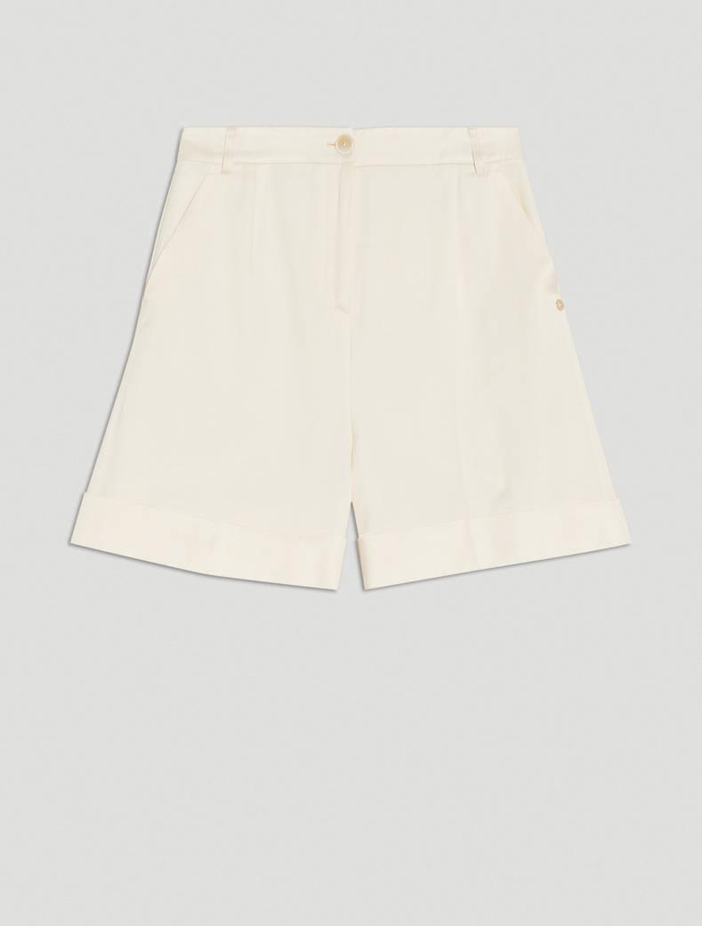 Twill Bermuda shorts - beige - pennyblack