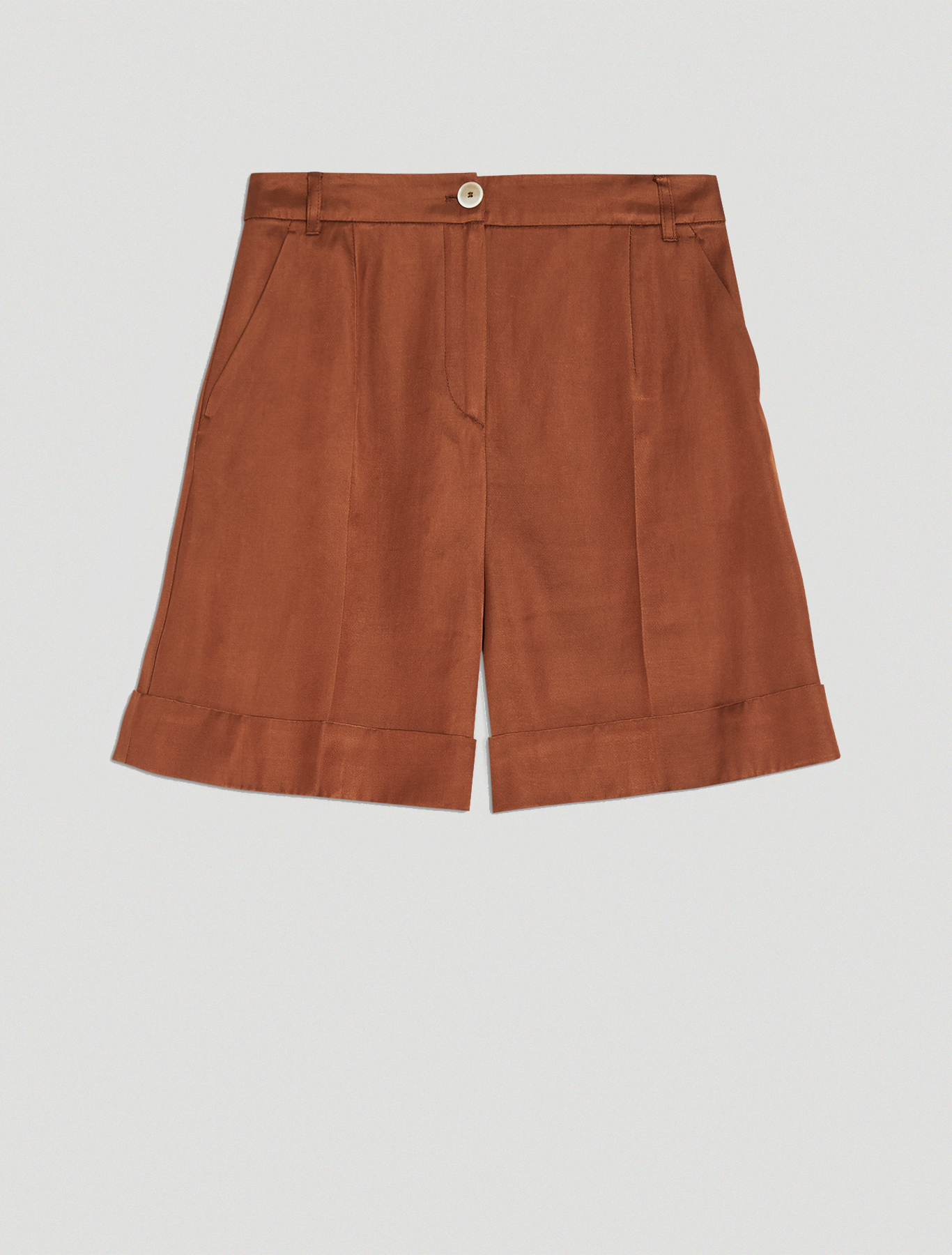 Twill Bermuda shorts - brown - pennyblack