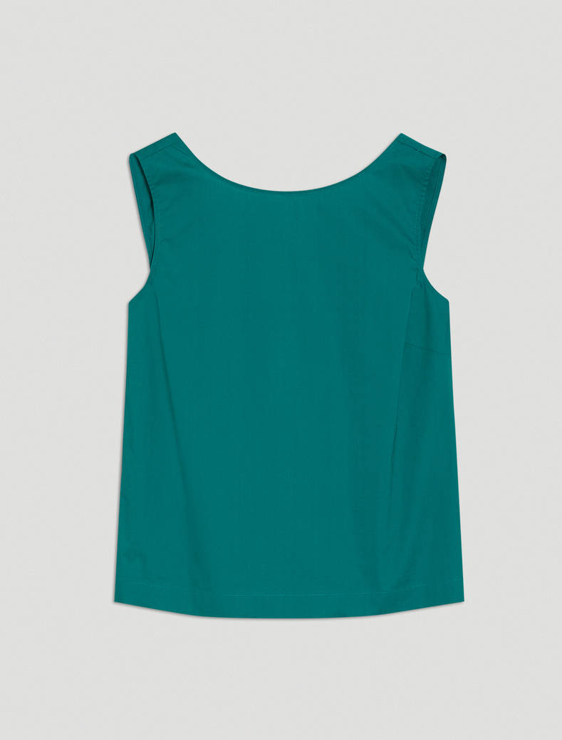 Cotton poplin top - emerald green - pennyblack