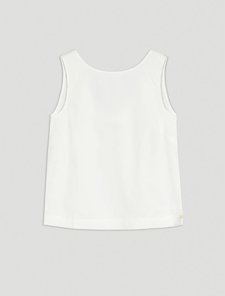 Cotton poplin top - optic white - pennyblack