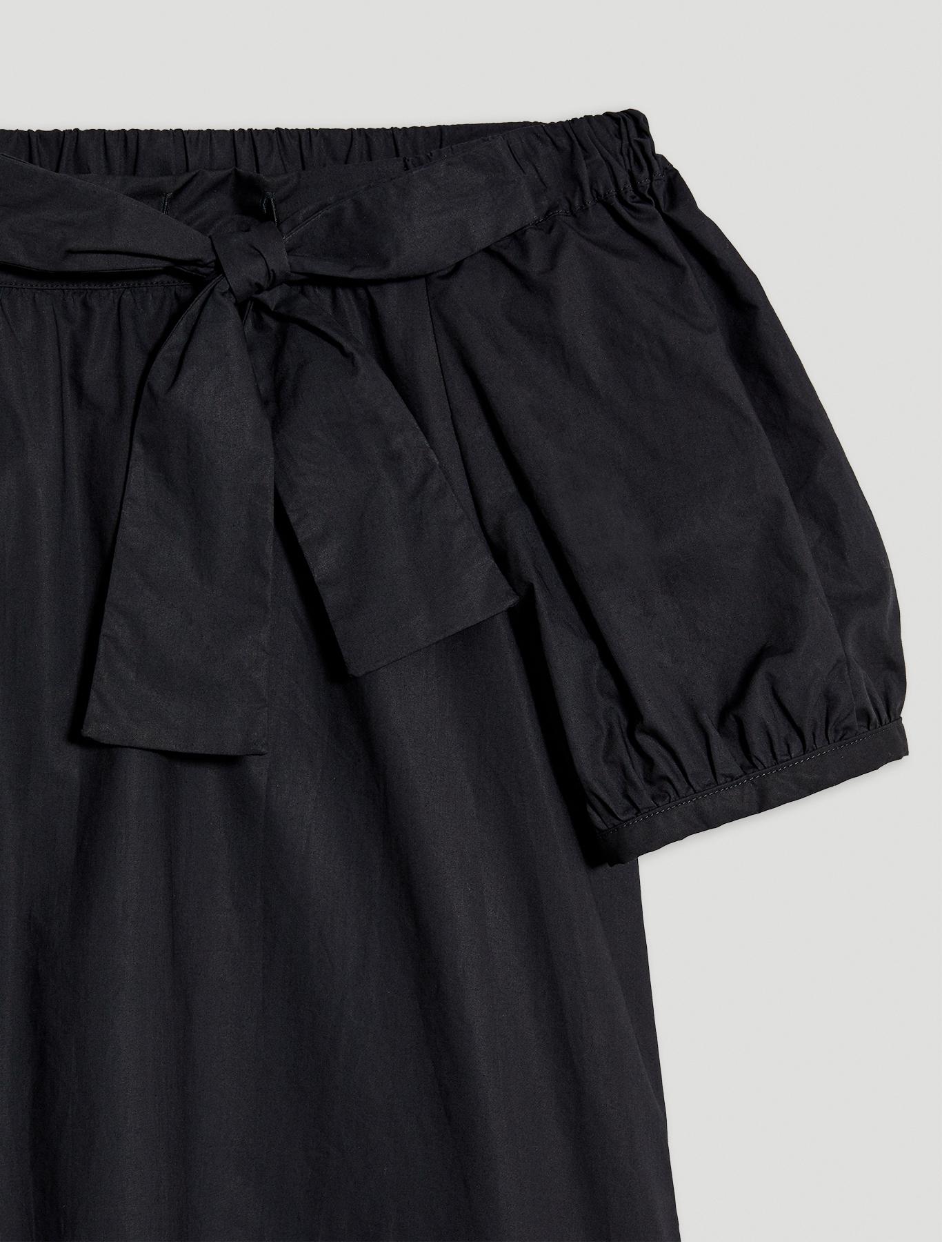 Cotton poplin dress - black - pennyblack