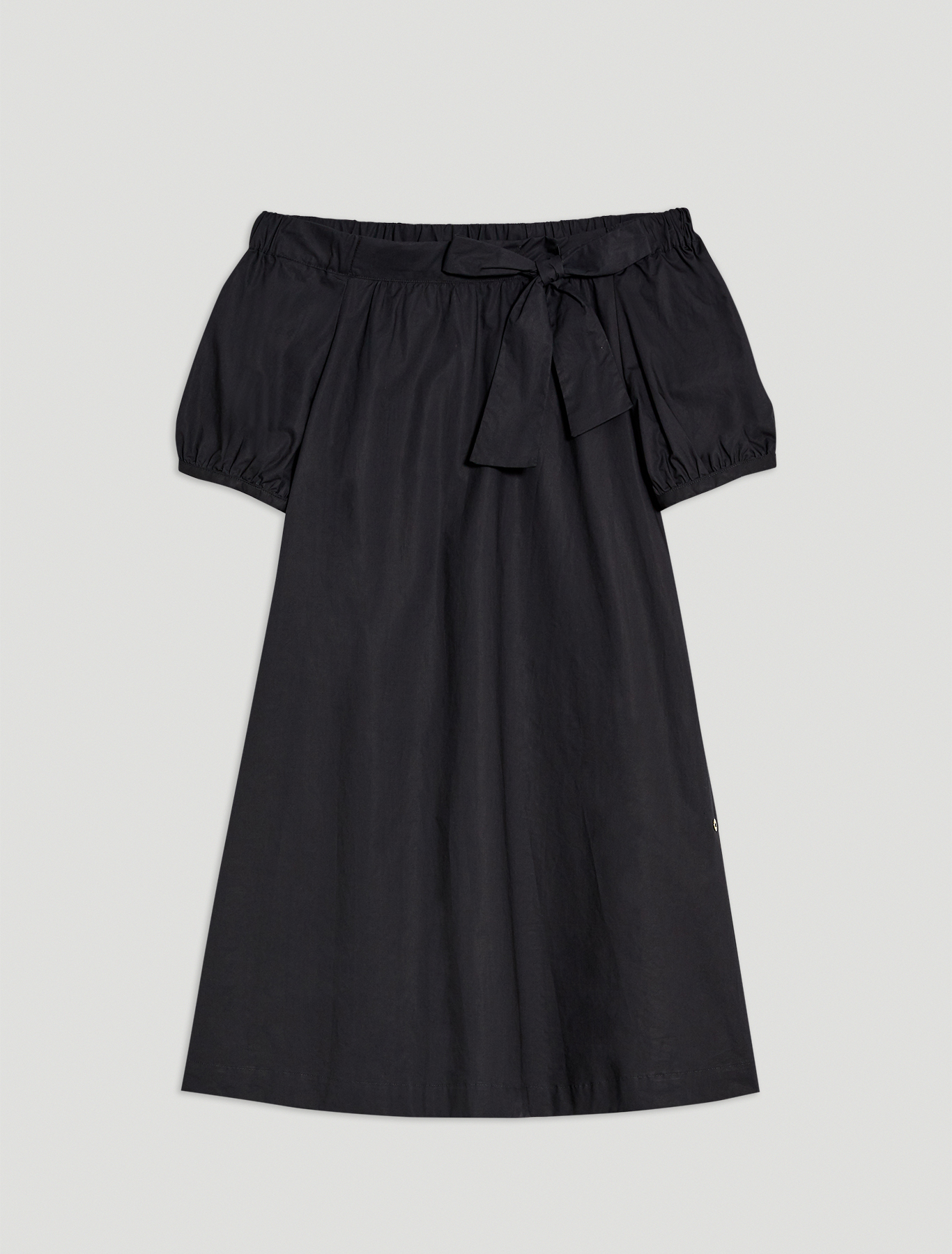 Cotton poplin dress - black - pennyblack