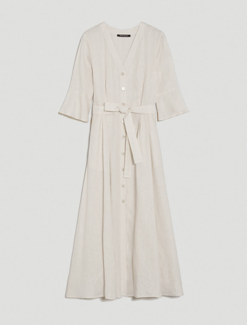 Pure linen shirt dress - ivory - pennyblack