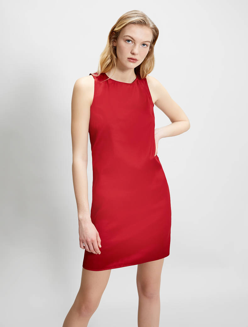 Taffeta sheath dress - red - pennyblack