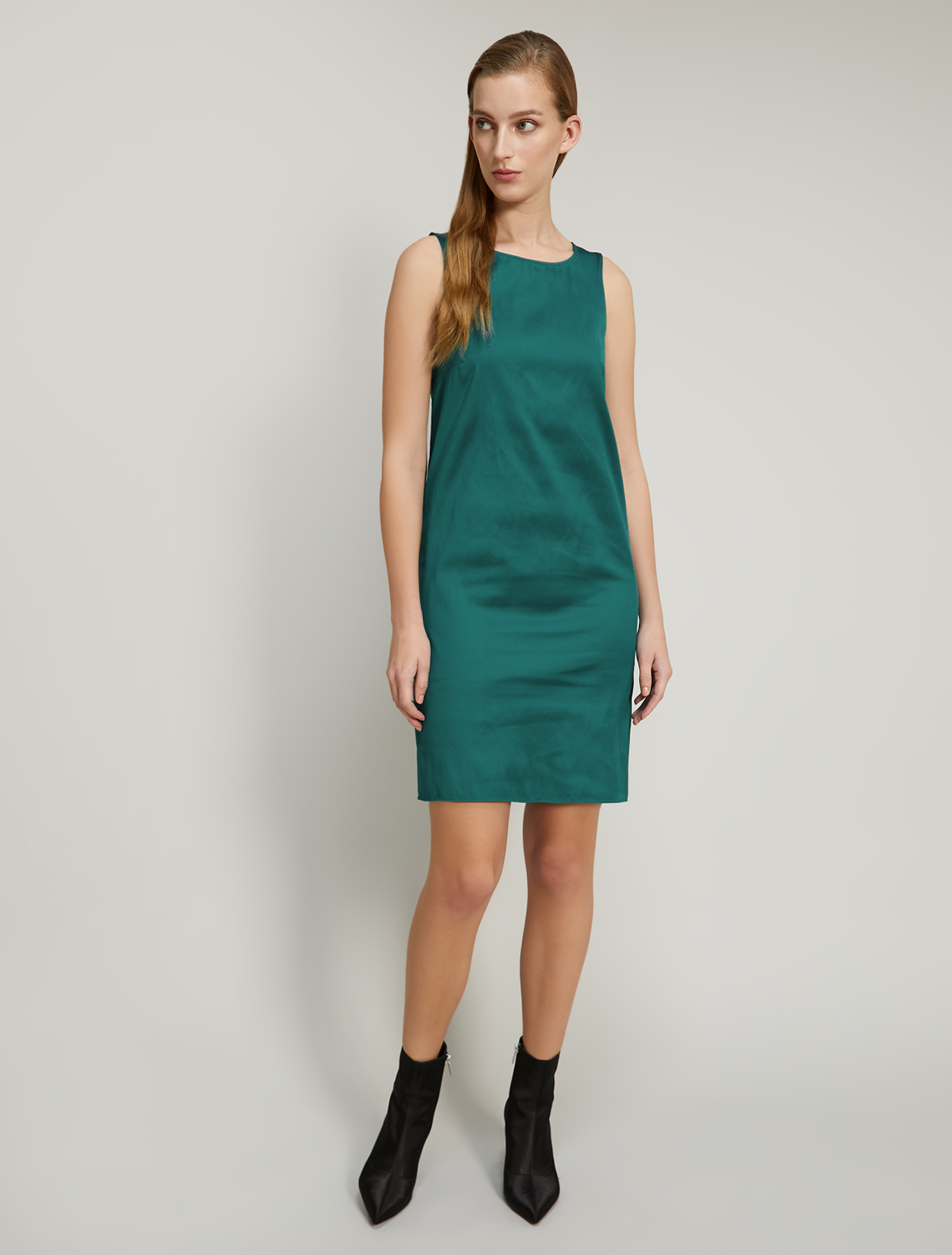 Taffeta sheath dress - emerald green - pennyblack