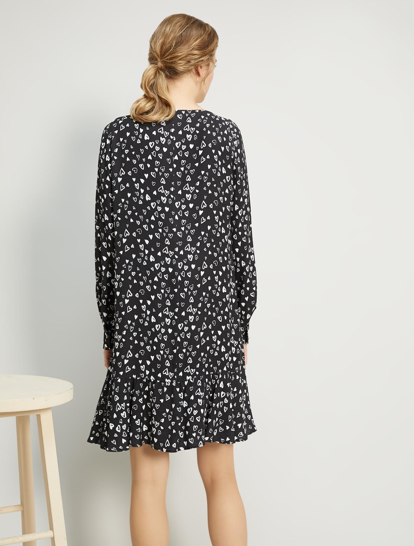Printed sablé dress - black pattern - pennyblack