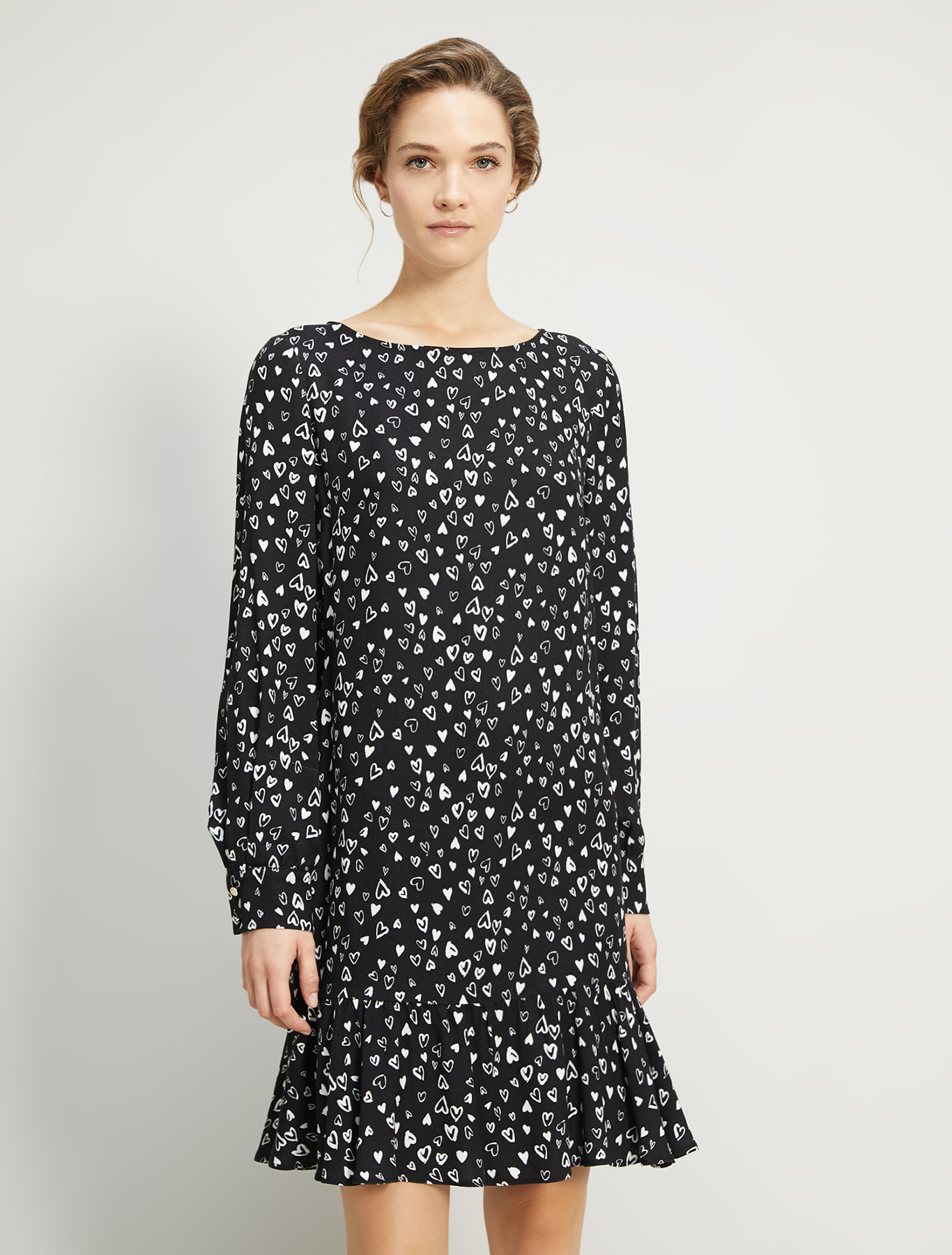 Printed sablé dress - black pattern - pennyblack