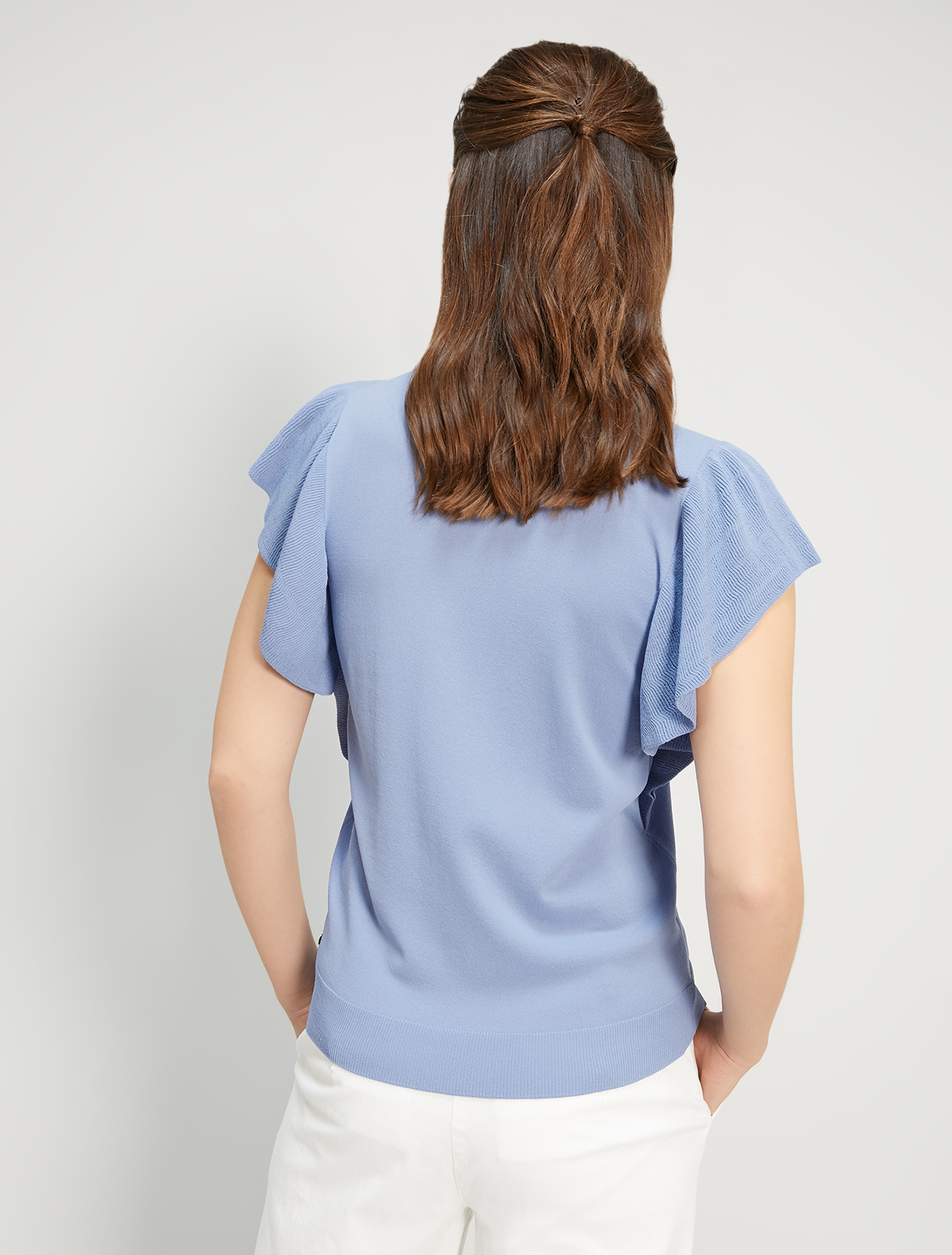 Jumper with butterfly sleeves - air force blue - pennyblack