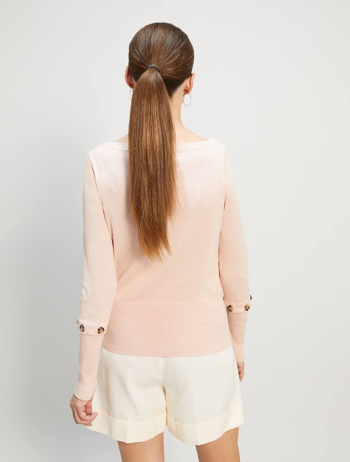 Cotton and silk jumper - pink - pennyblack