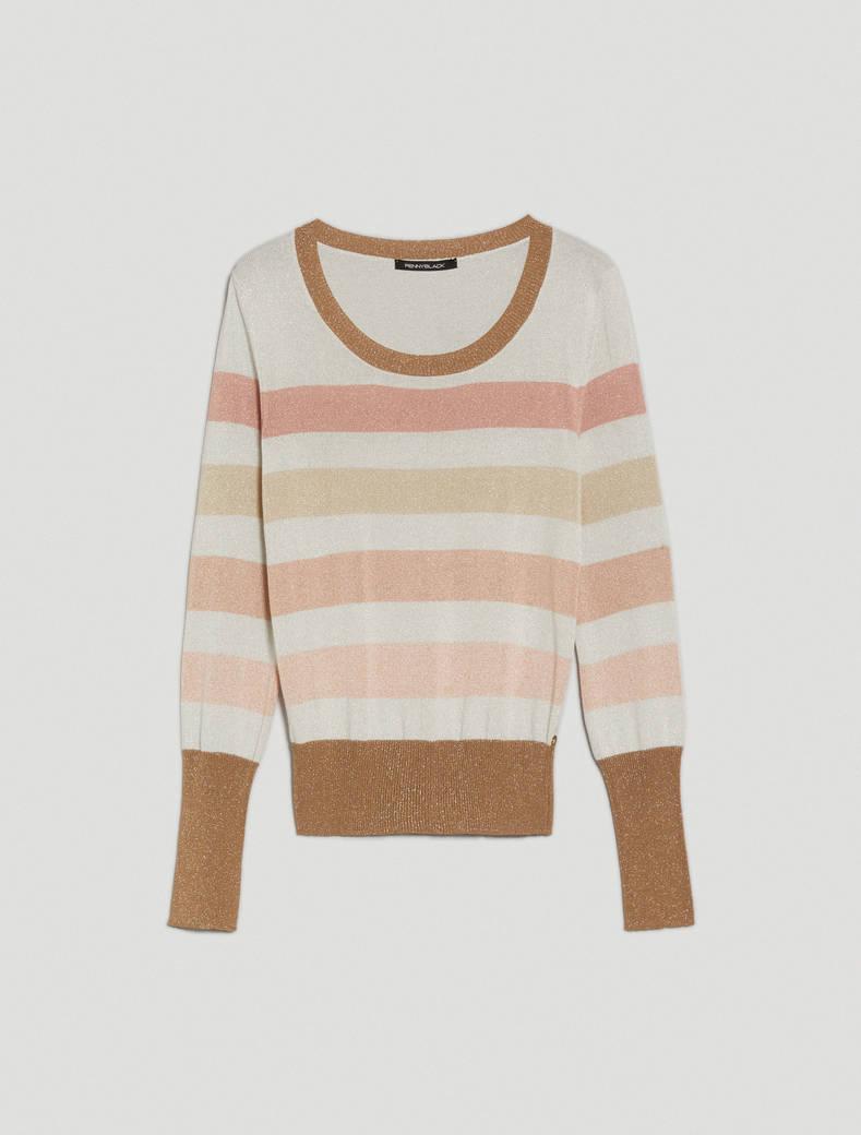 Lamé tricot jumper - beige - pennyblack