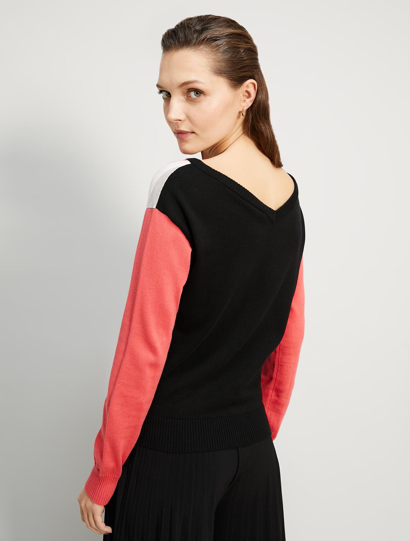 Jacquard intarsia jumper - black - pennyblack