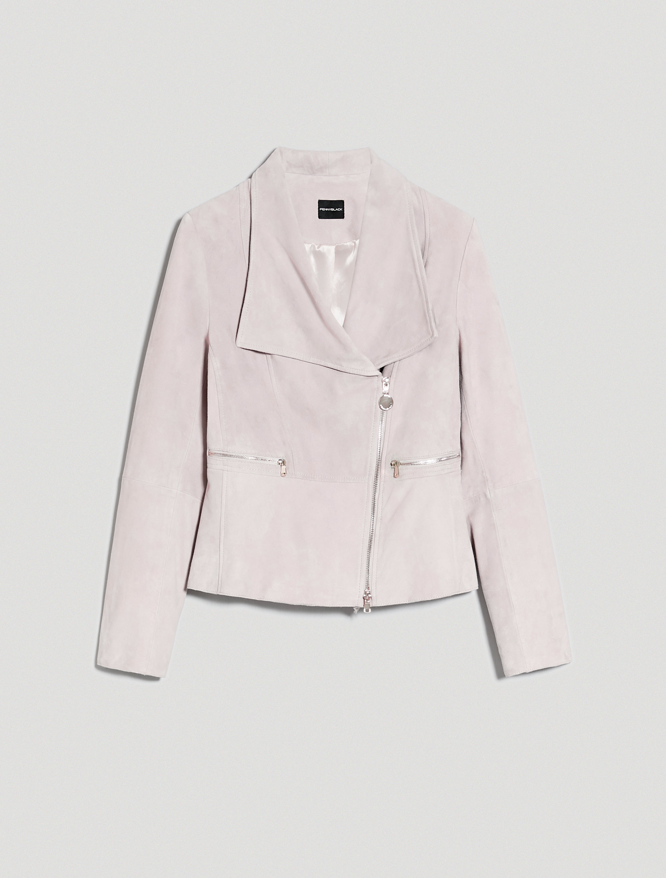 Suede nappa leather jacket - ivory - pennyblack