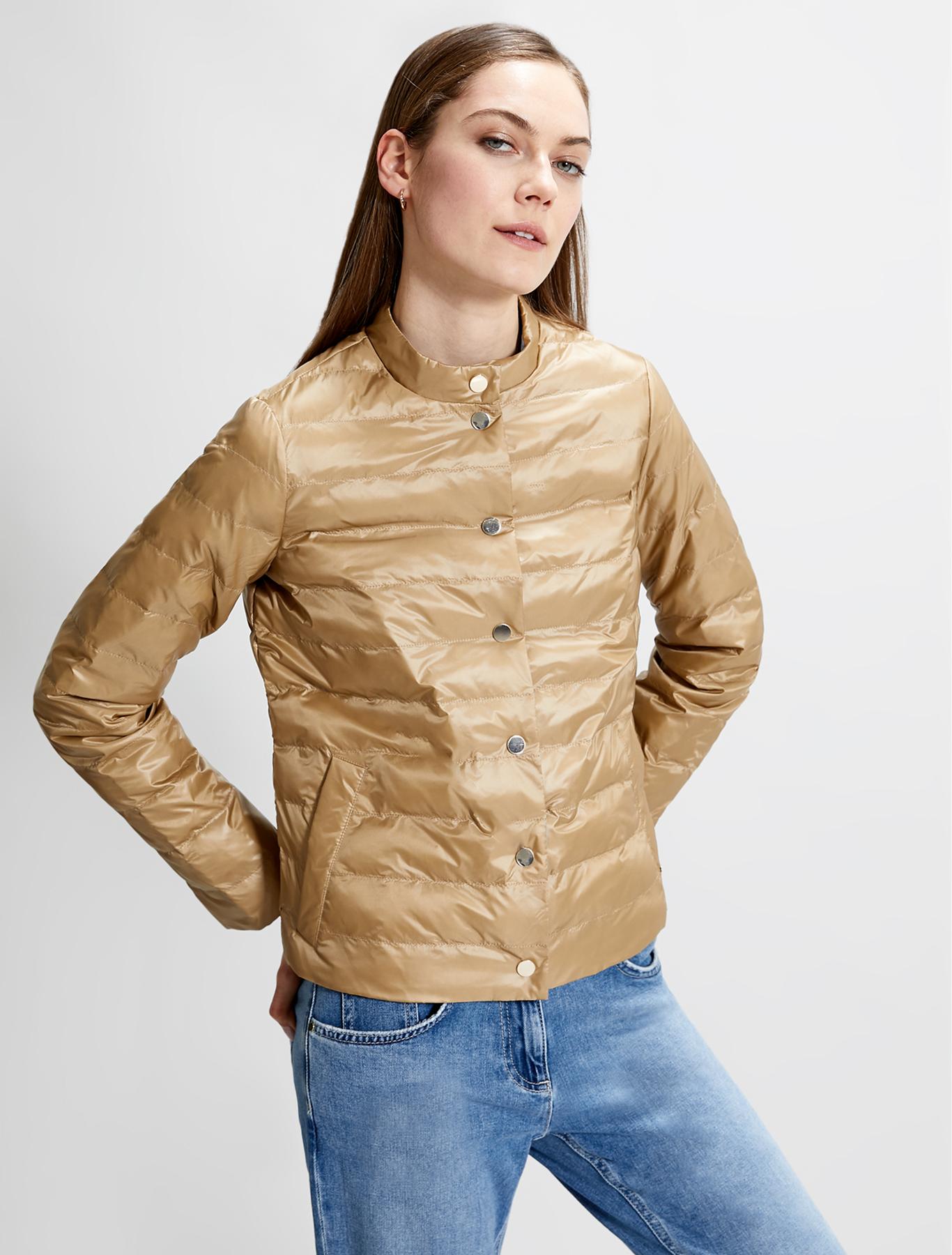 Reversible padded jacket - camel - pennyblack
