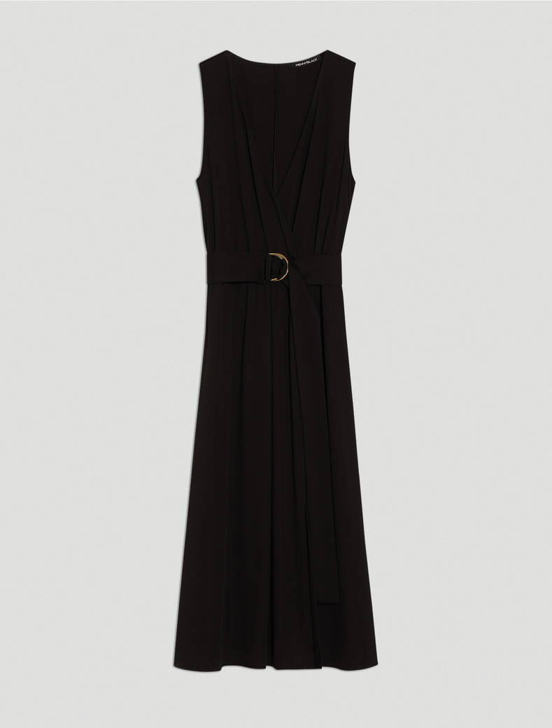 Fluid jersey dress - black - pennyblack