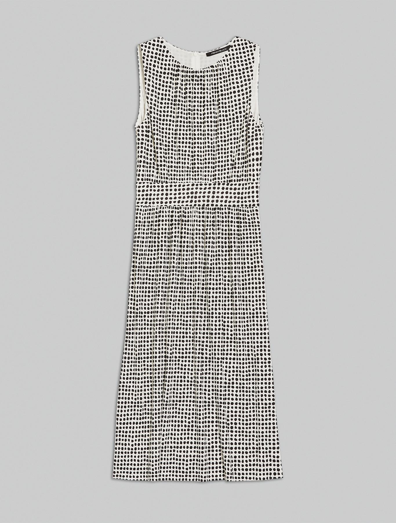 Jersey midi dress - ivory pattern - pennyblack
