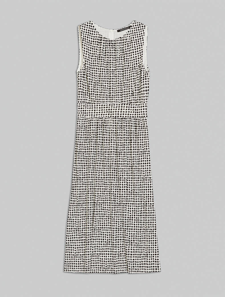 Jersey midi dress - ivory pattern - pennyblack