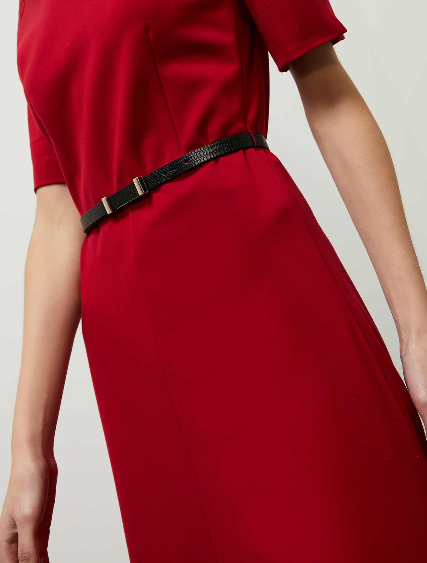 Fit & flare jersey dress - red - pennyblack