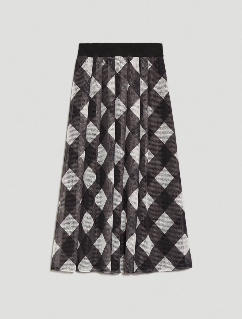 Micro-mesh skirt - medium grey pattern - pennyblack