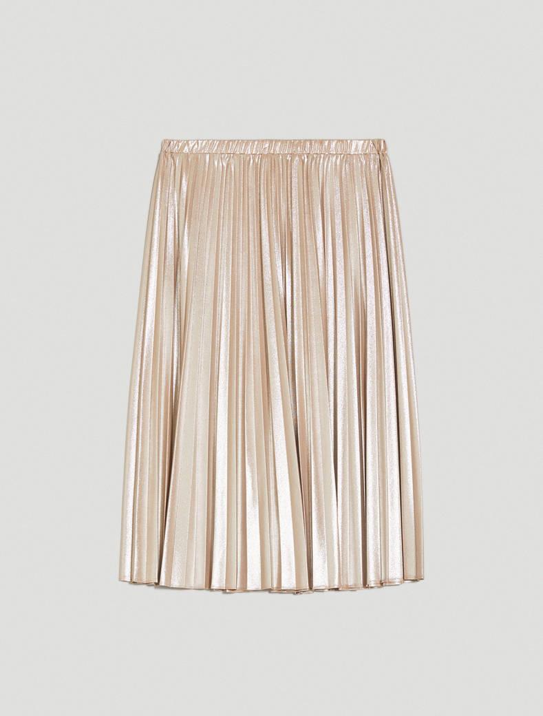 Metallic jersey skirt - beige - pennyblack
