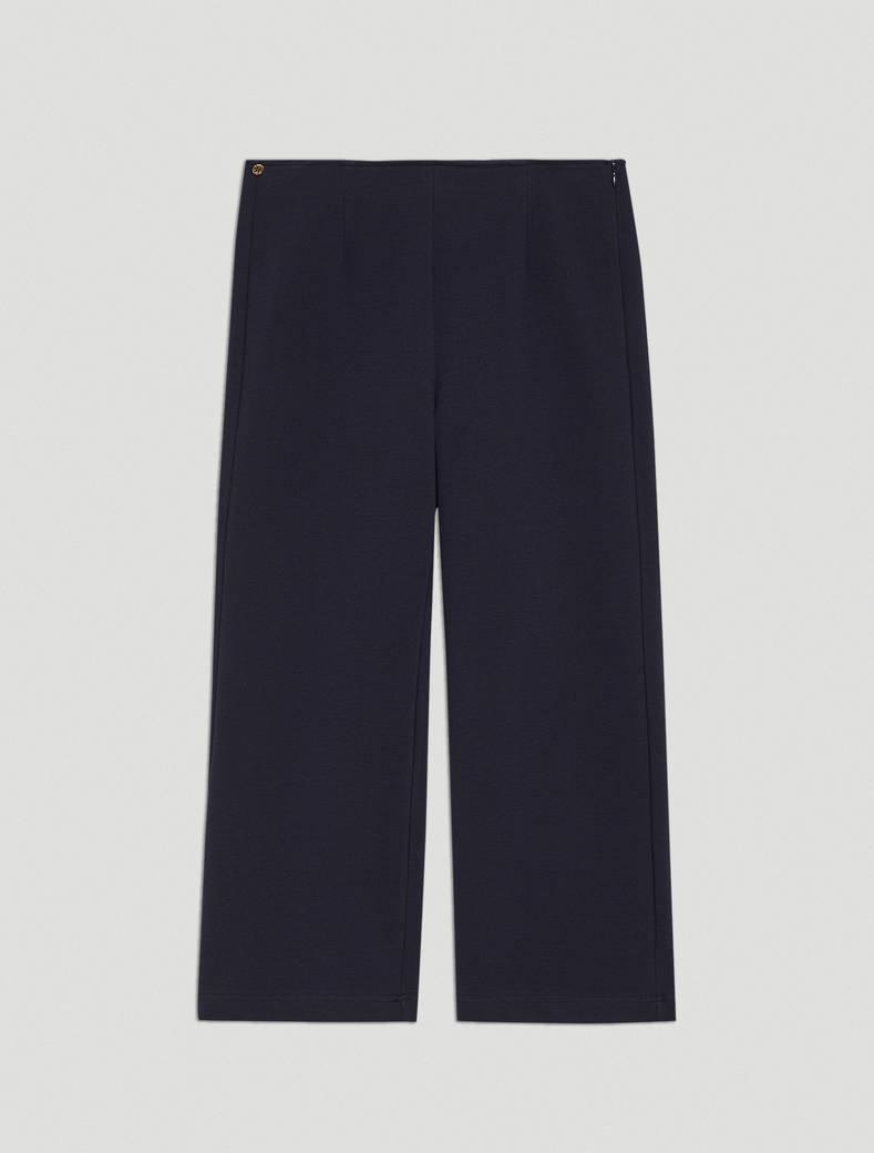 Ottoman jersey trousers - navy blue - pennyblack