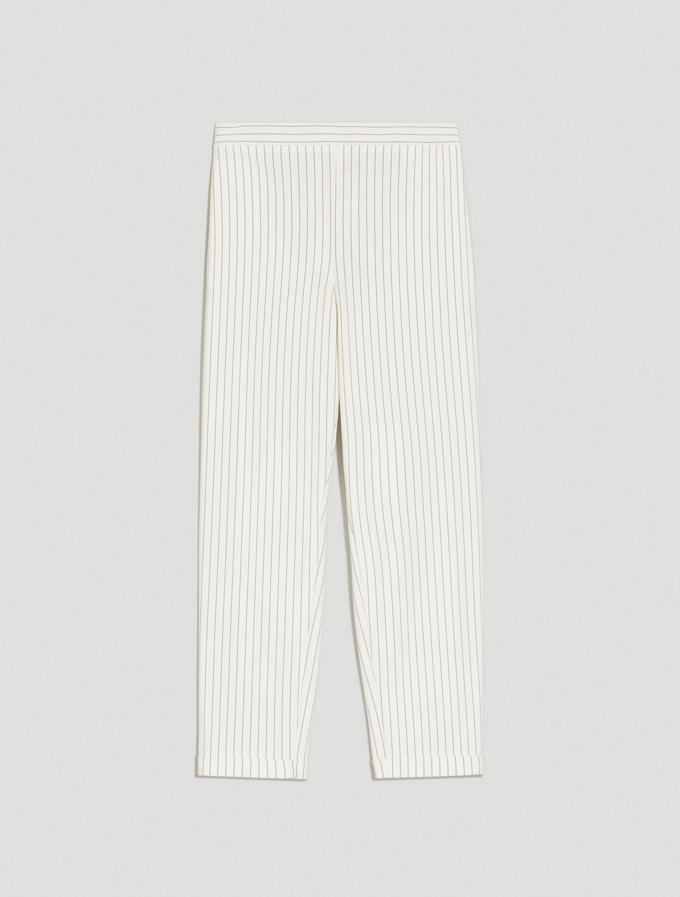 Pinstriped jersey trousers - ivory pattern - pennyblack