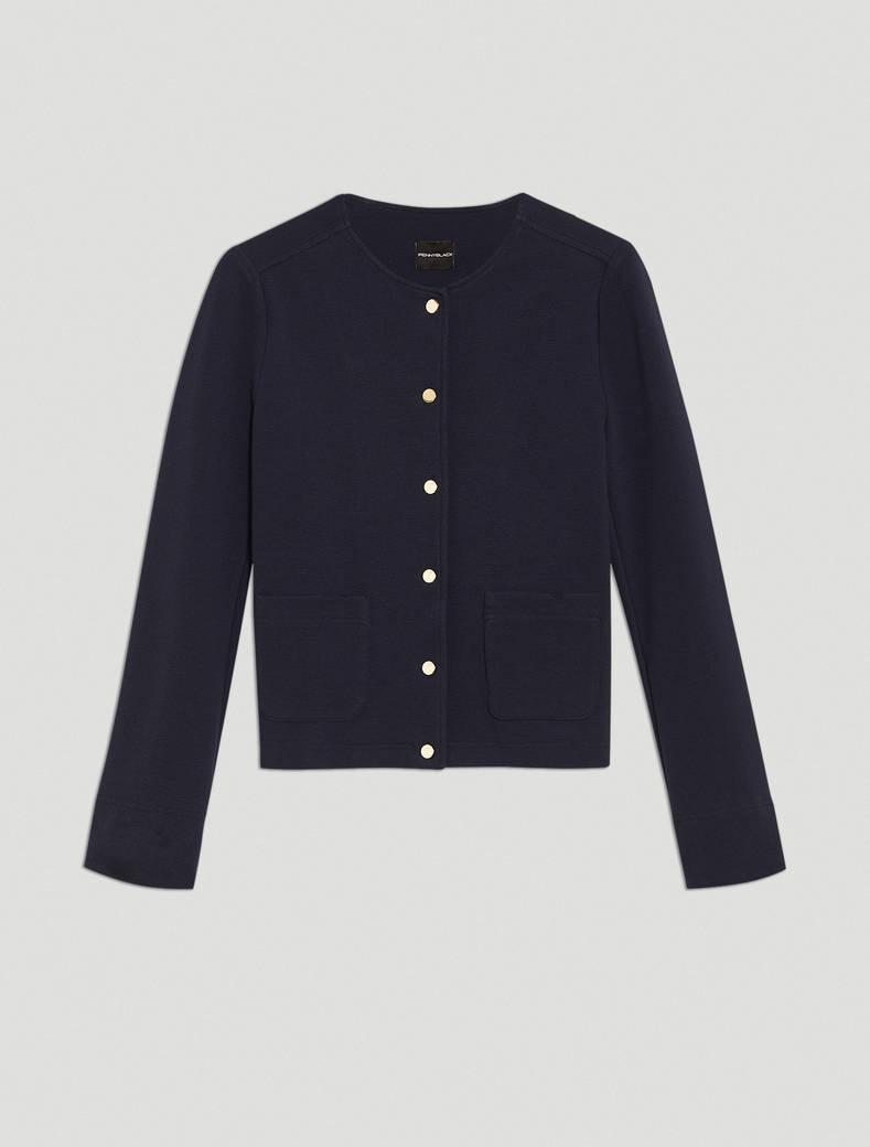 Ottoman jersey jacket - navy blue - pennyblack