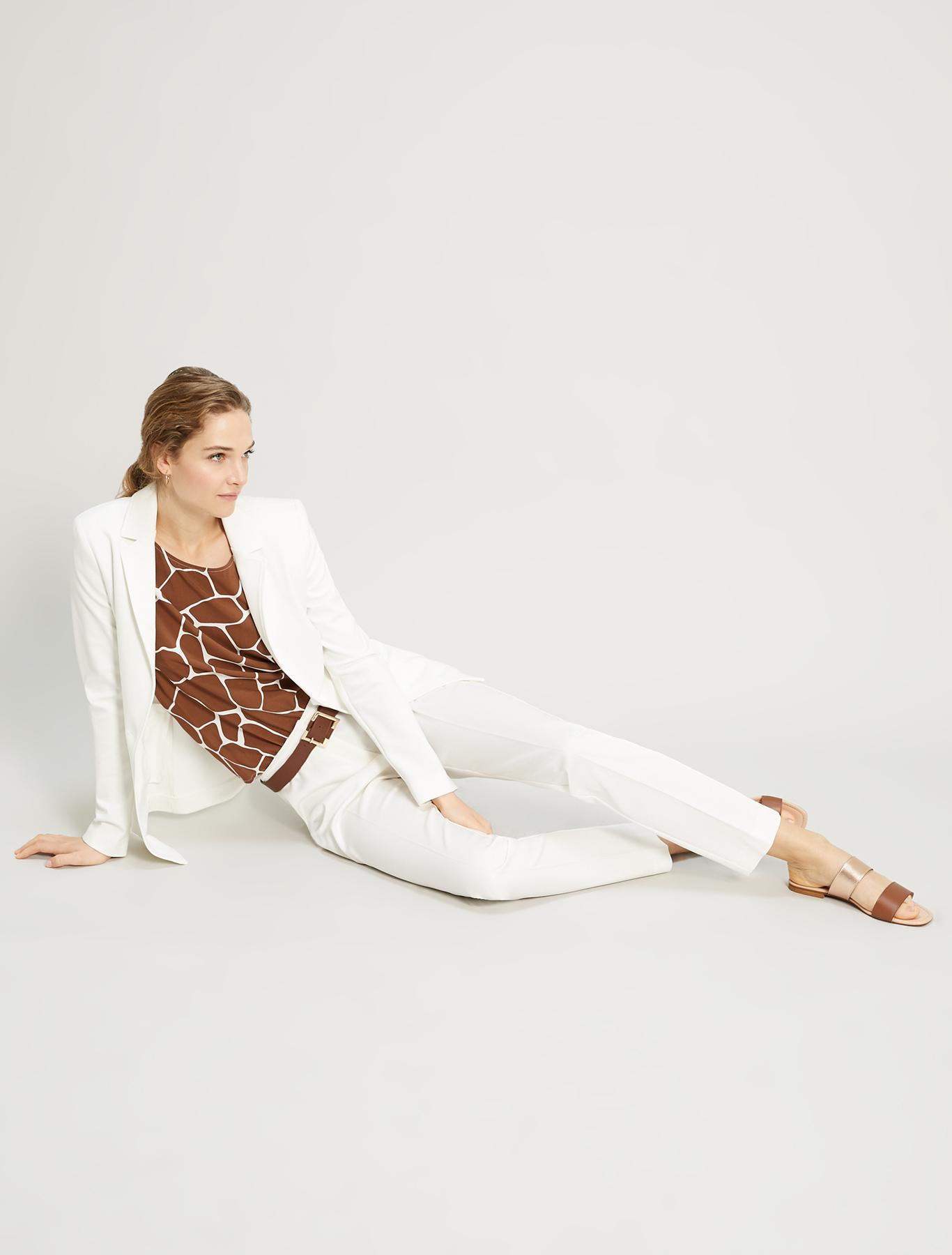 Slim-fit jersey blazer - ivory - pennyblack