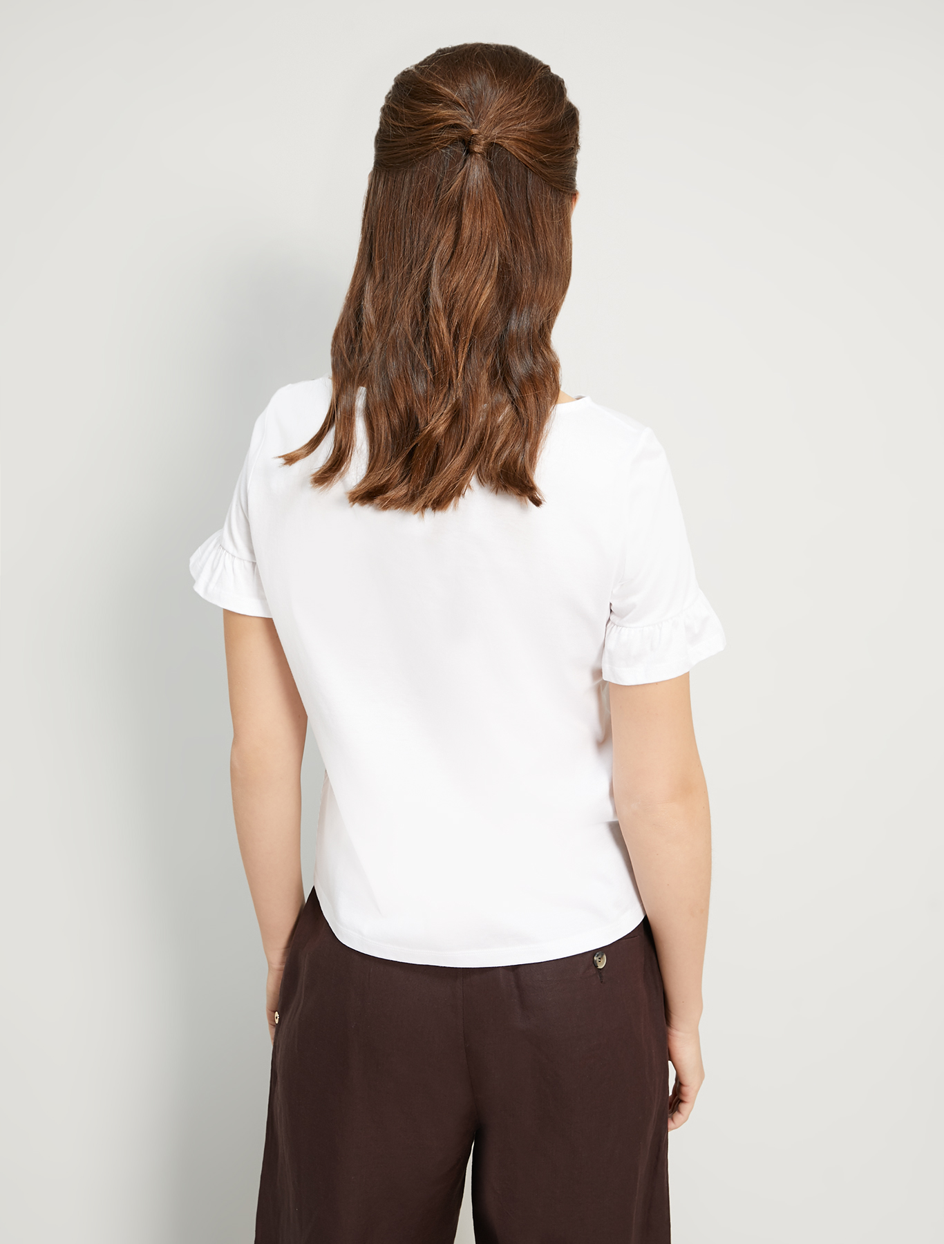 Embroidered cotton T-shirt - white - pennyblack