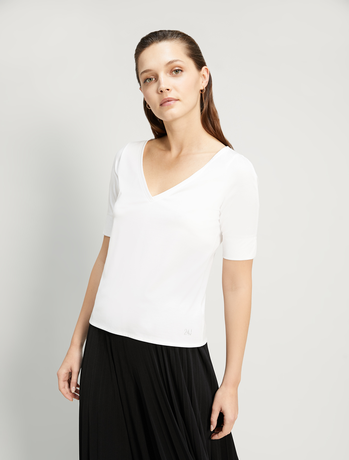 Flowing jersey T-shirt - ivory - pennyblack