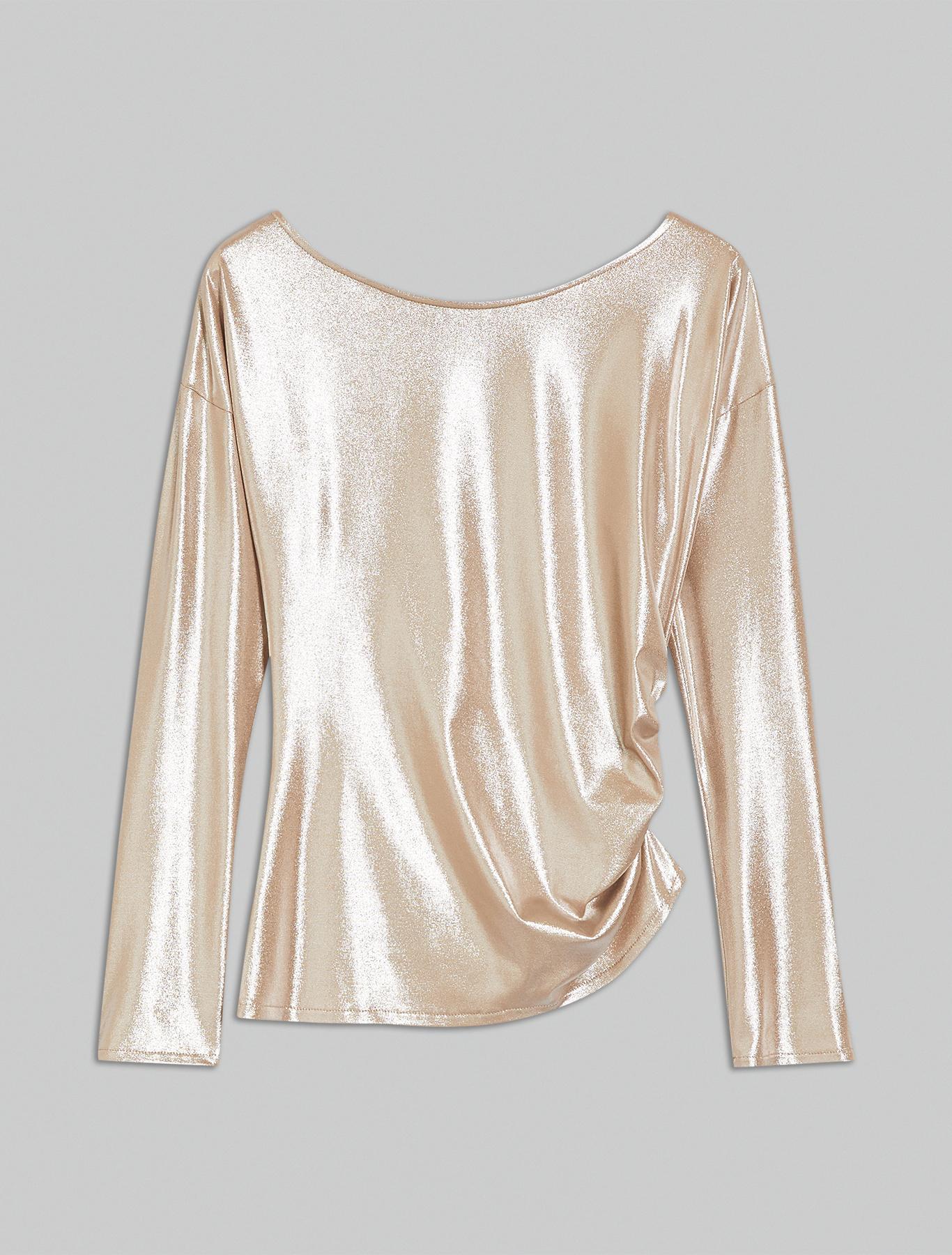 Metallic jersey T-shirt - beige - pennyblack