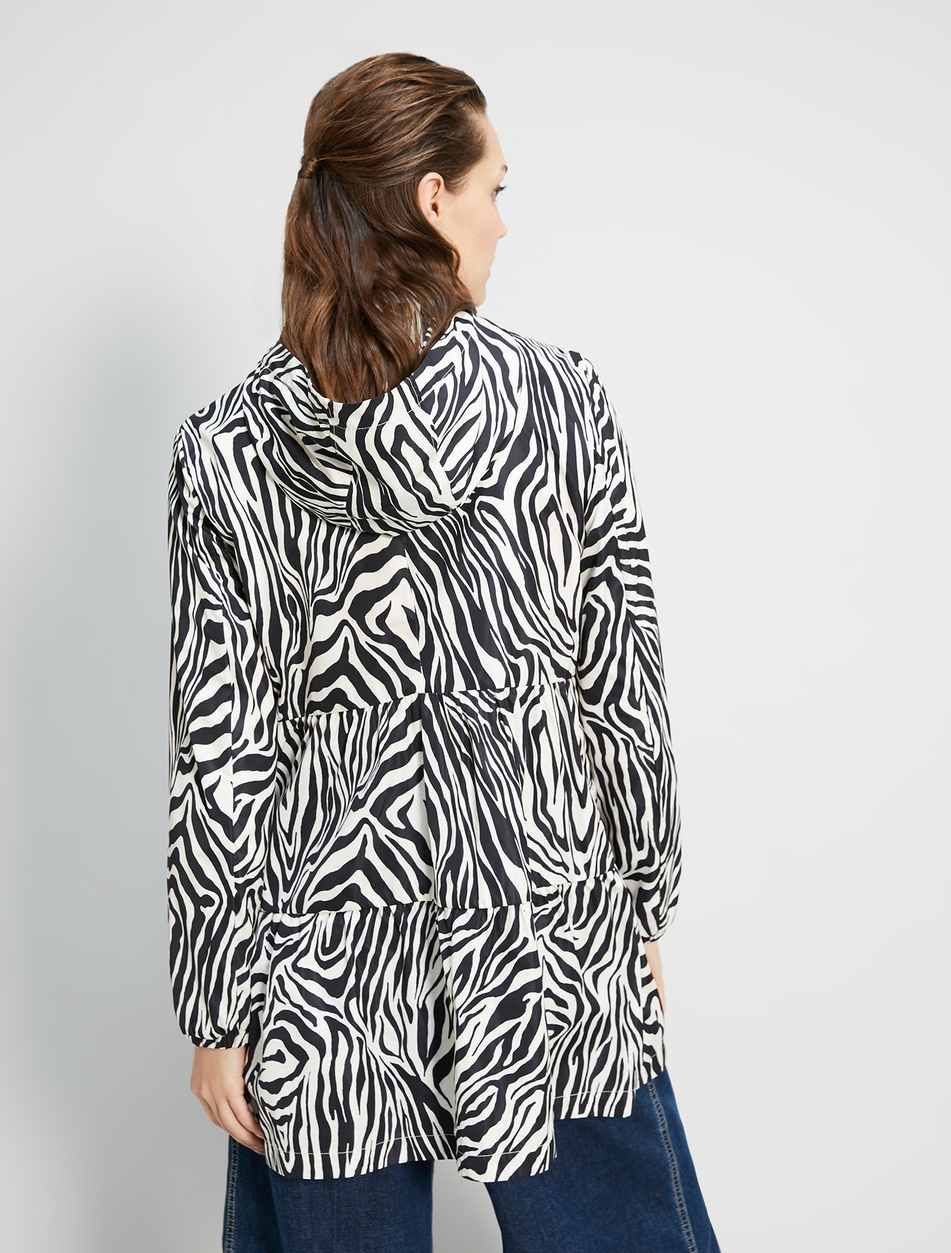 Zebra print raincoat - black pattern - pennyblack