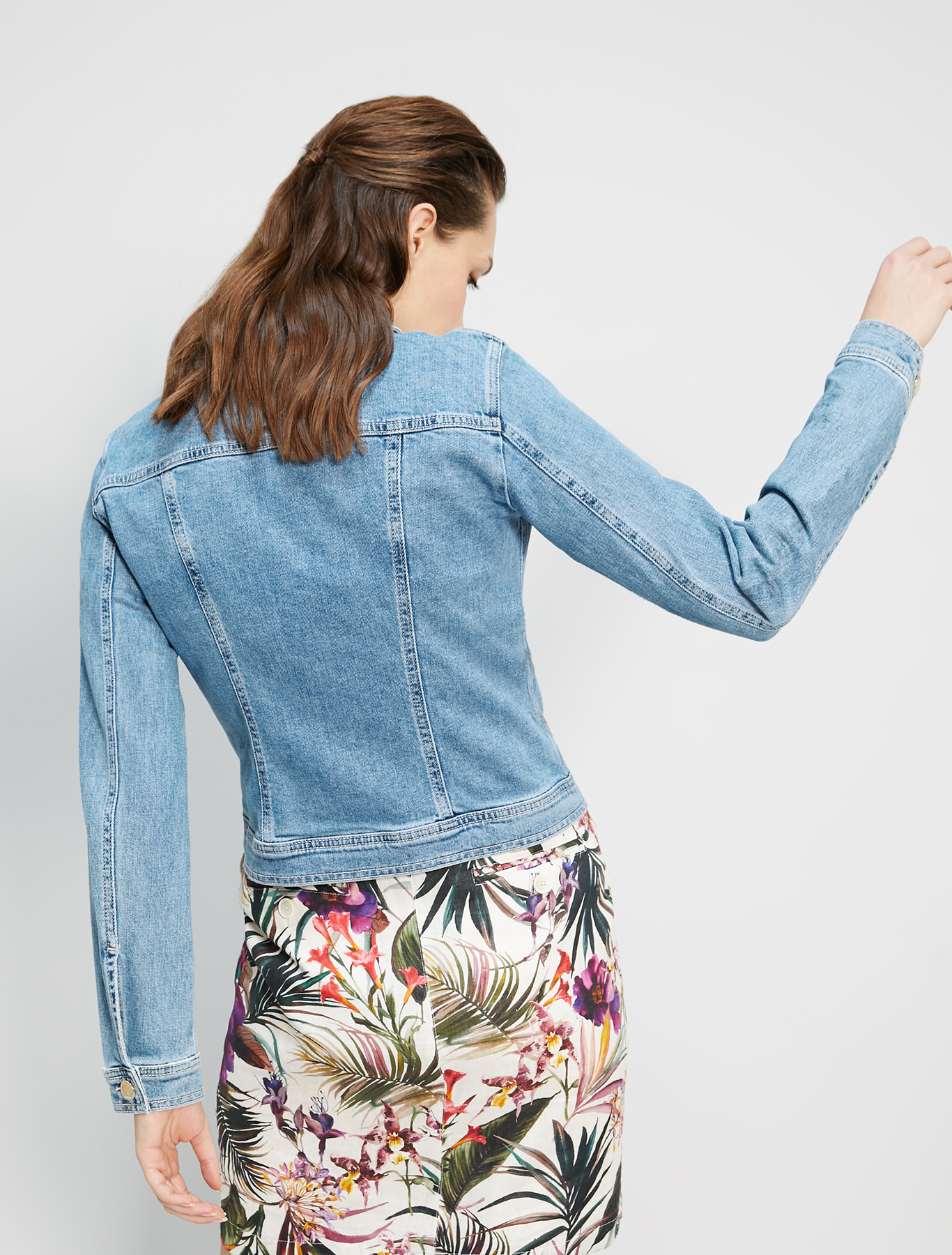 Giacca slim in denim - bluette - pennyblack