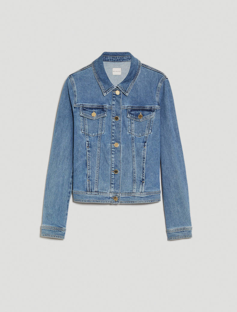 Slim denim jacket - cornflower blue - pennyblack