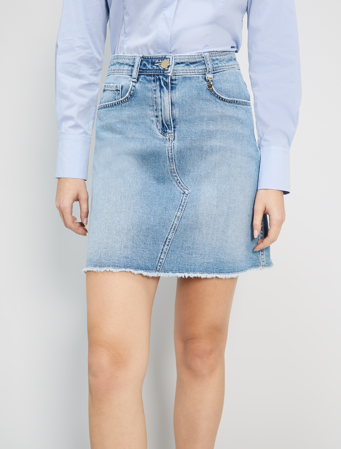 Five-pocket denim skirt - cornflower blue - pennyblack