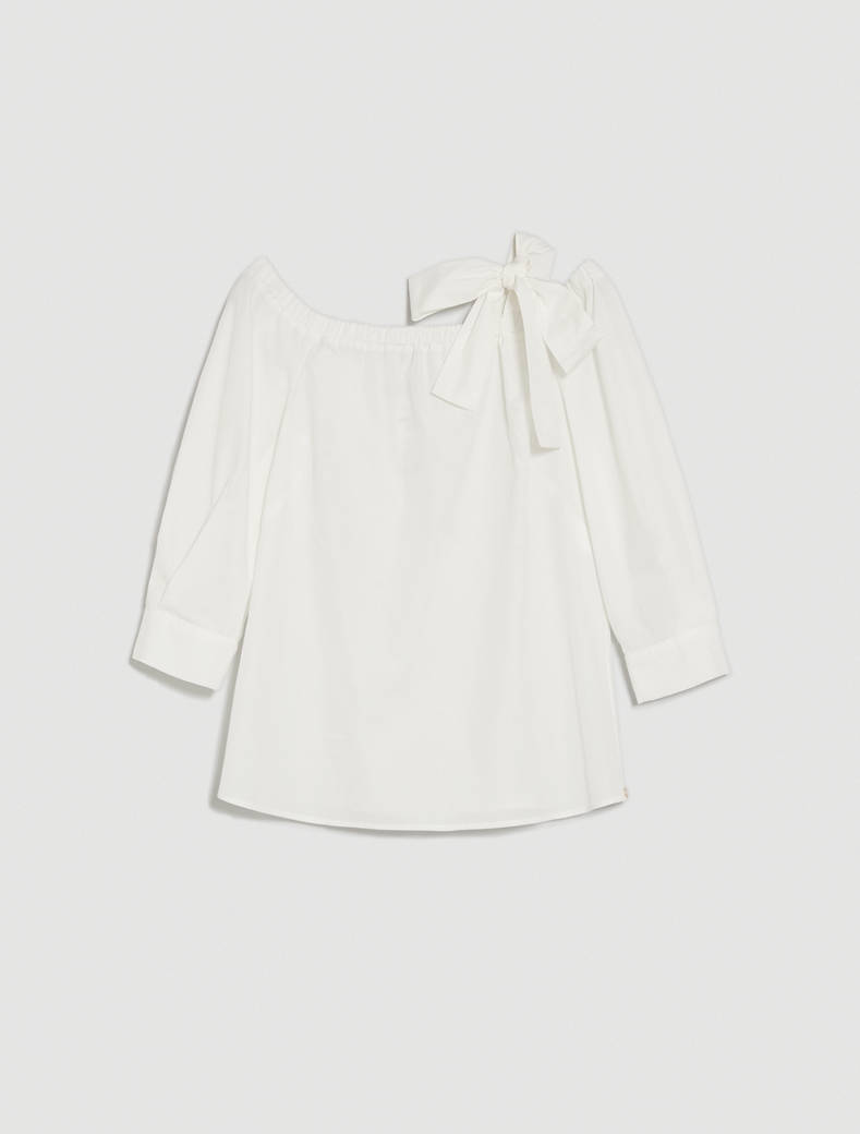 Cotton poplin blouse - white - pennyblack