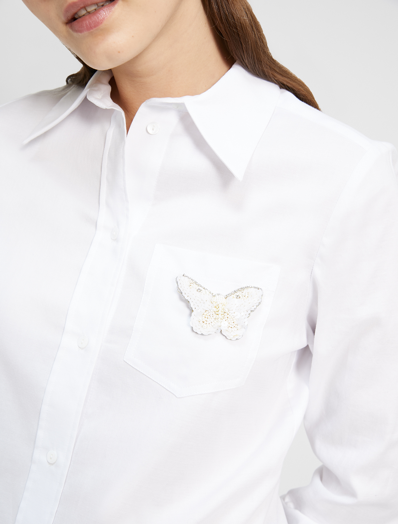 Oxford cotton shirt - white - pennyblack