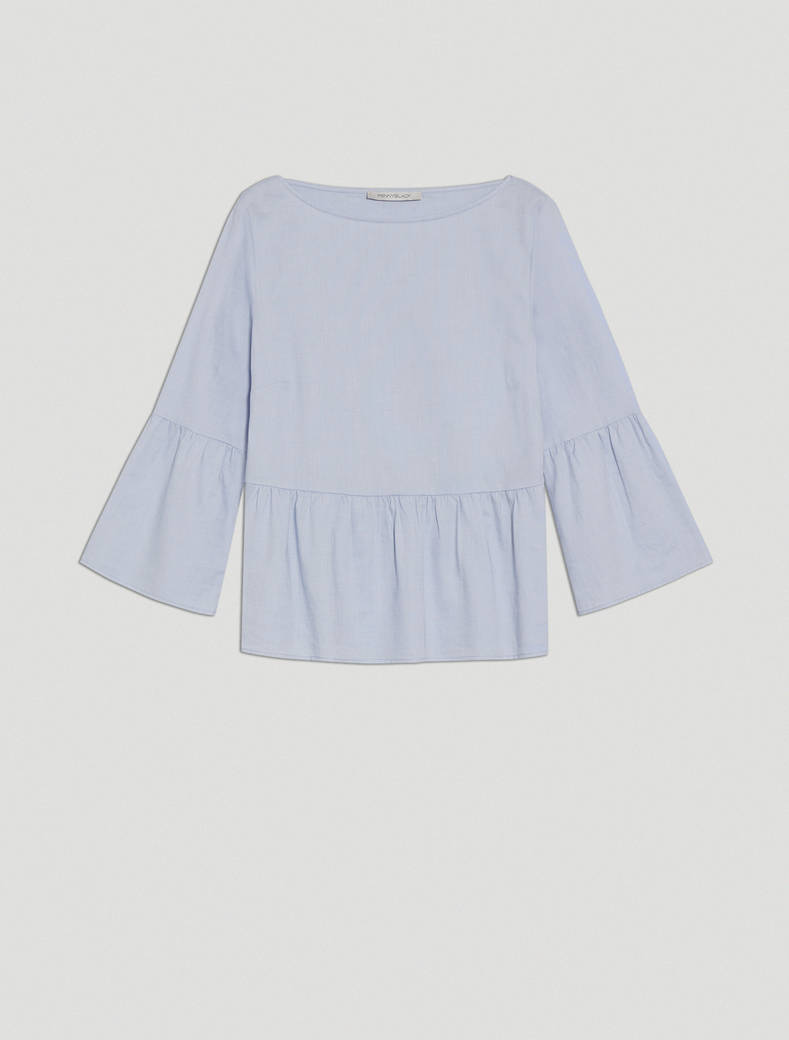 Oxford cotton blouse - light blue - pennyblack