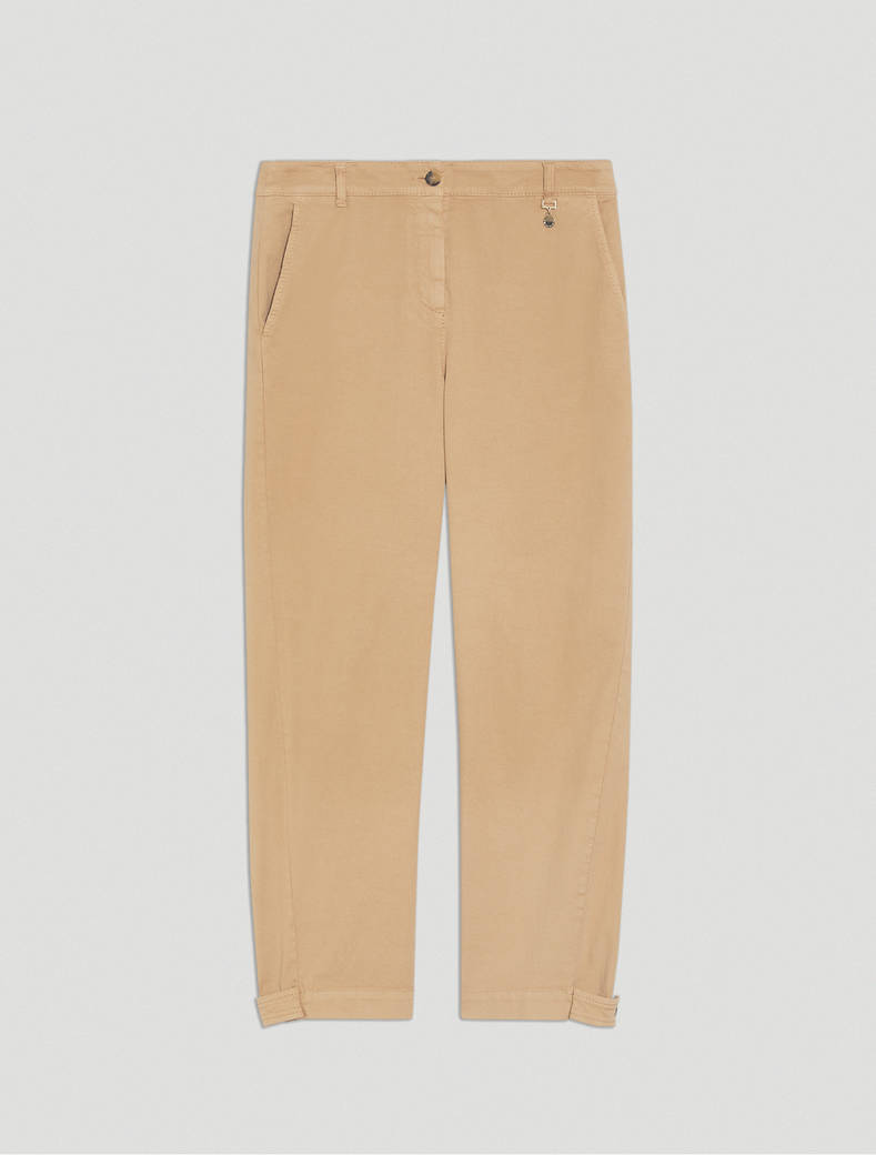 Piqué carrot-fit trousers - cord - pennyblack