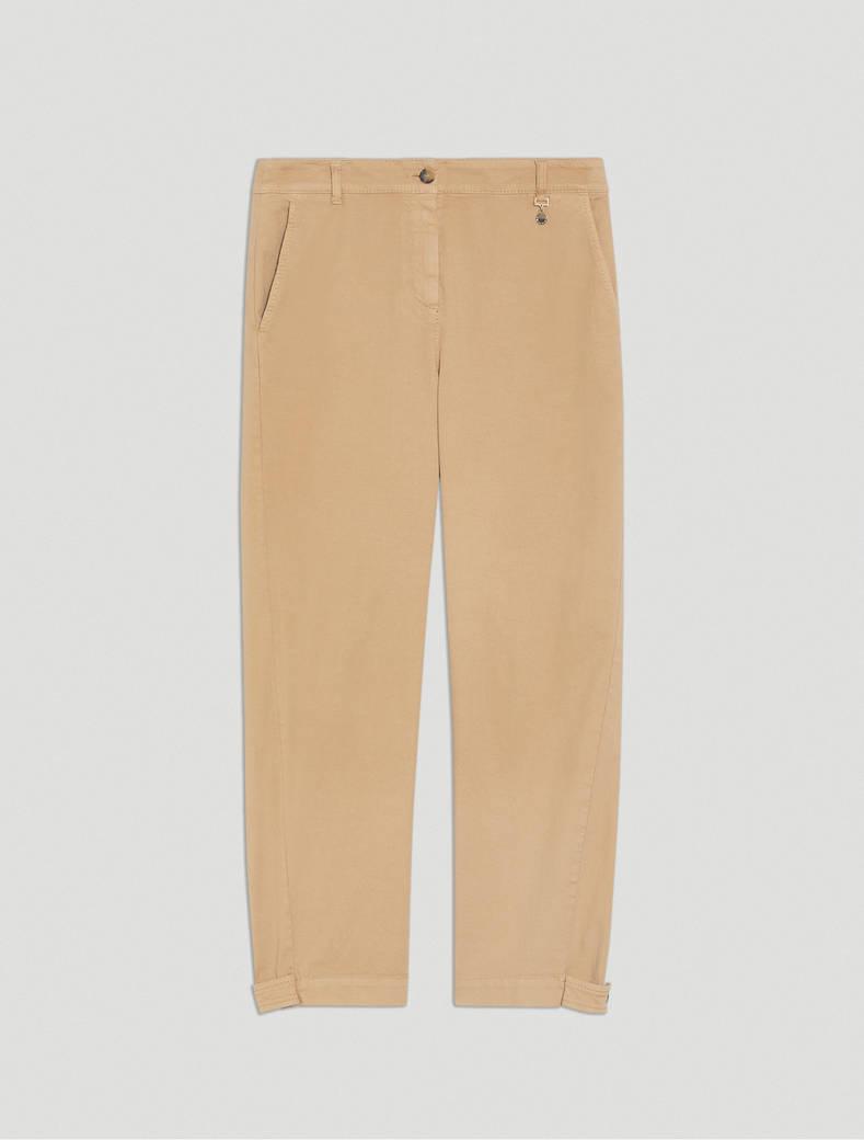 Pantaloni carrot fit in piqué - corda - pennyblack