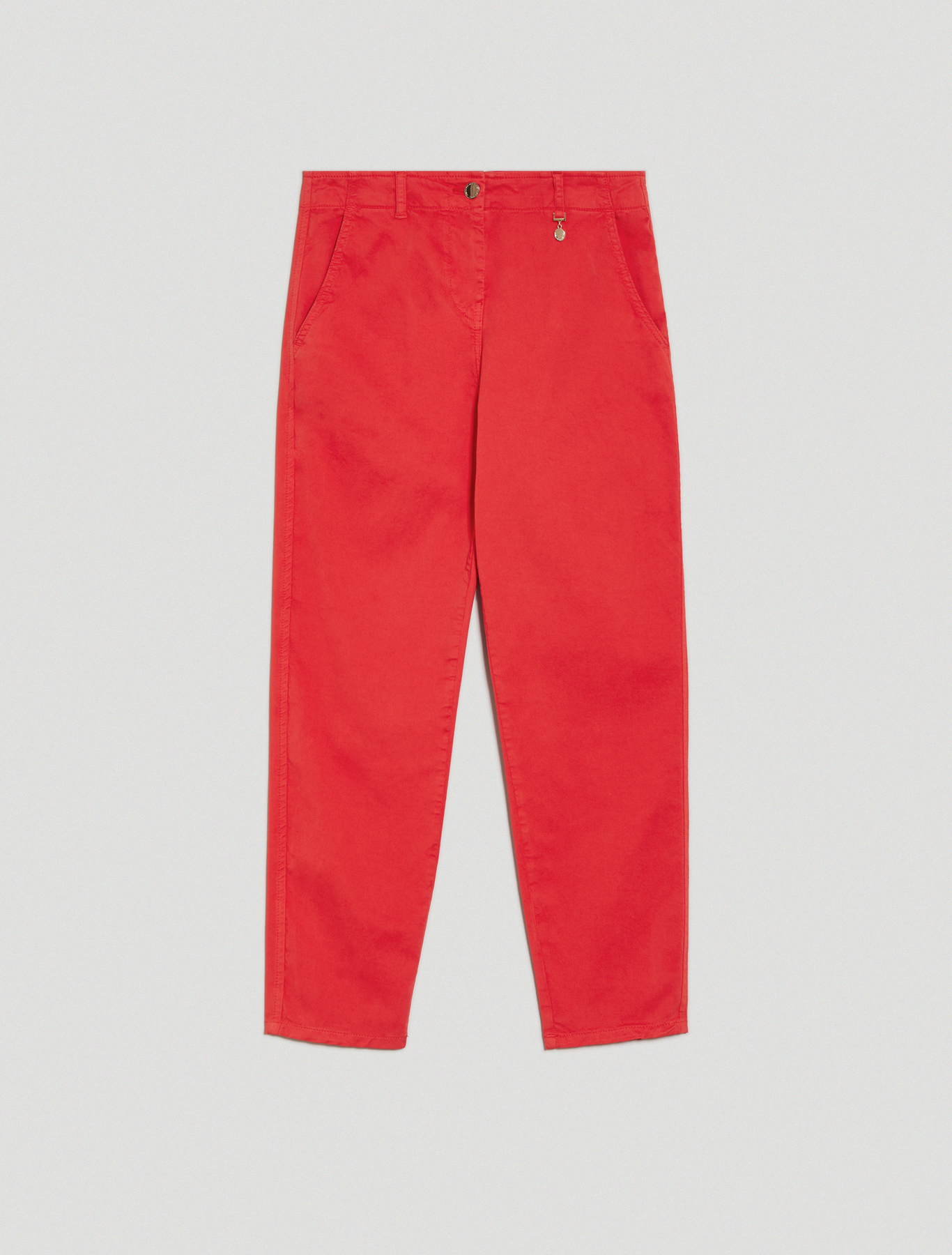 Relaxed-fit cotton trousers - red - pennyblack