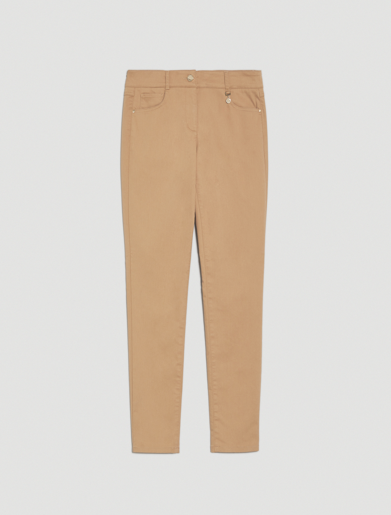 Skinny-fit trousers in gabardine - beige - pennyblack