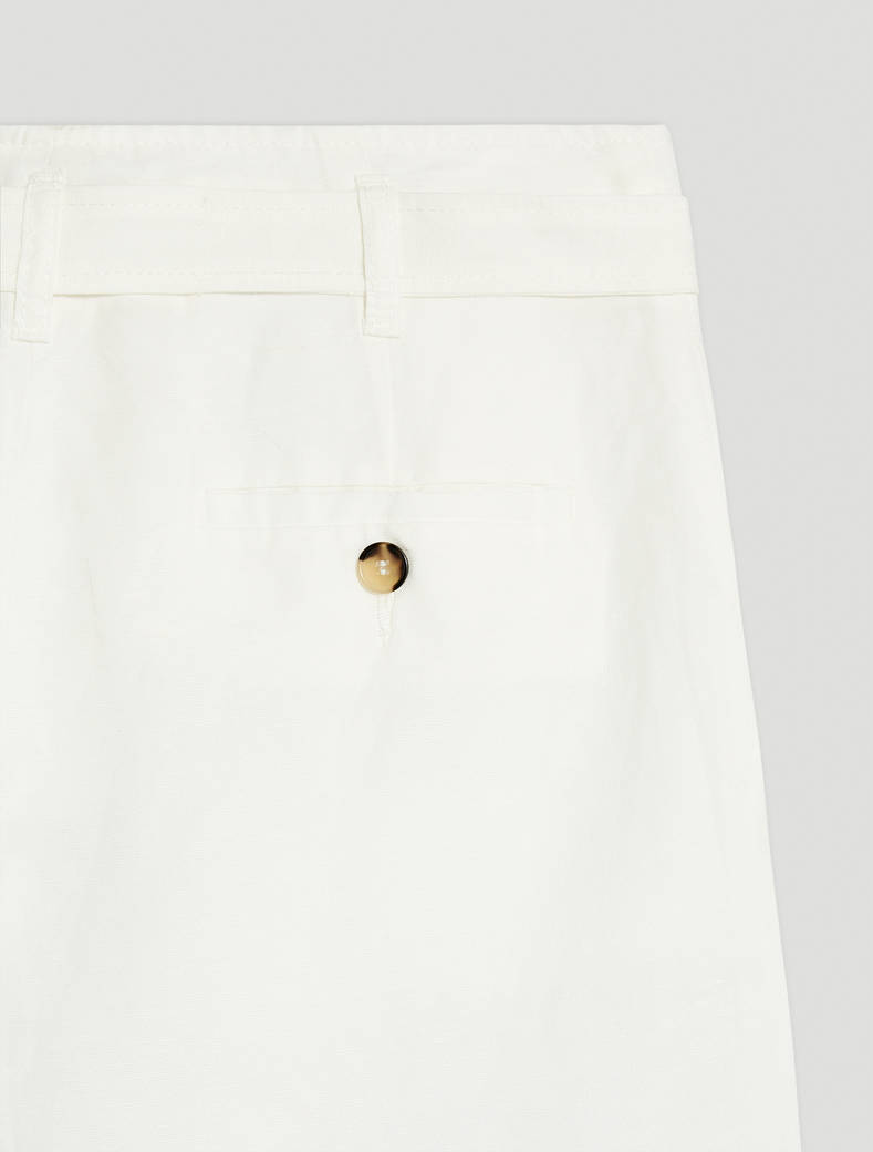 Linen blend trousers - white - pennyblack