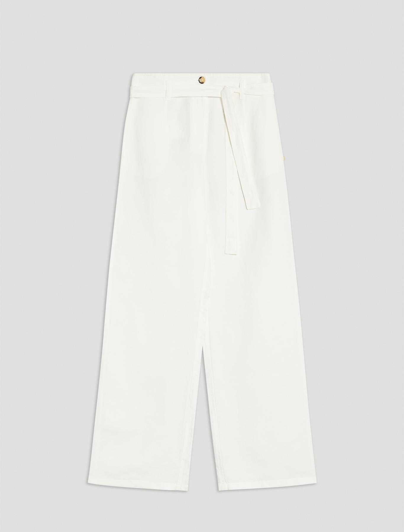 Linen blend trousers - white - pennyblack