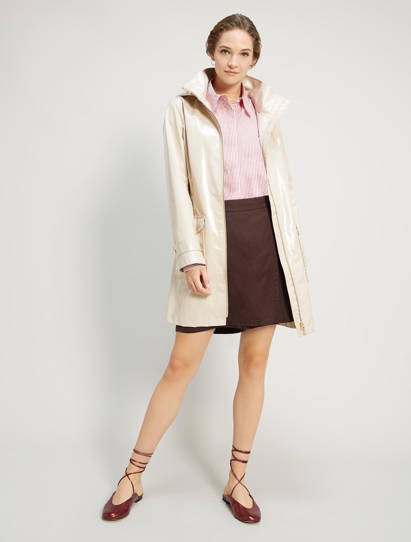 Linen blend Bermuda shorts - brown - pennyblack