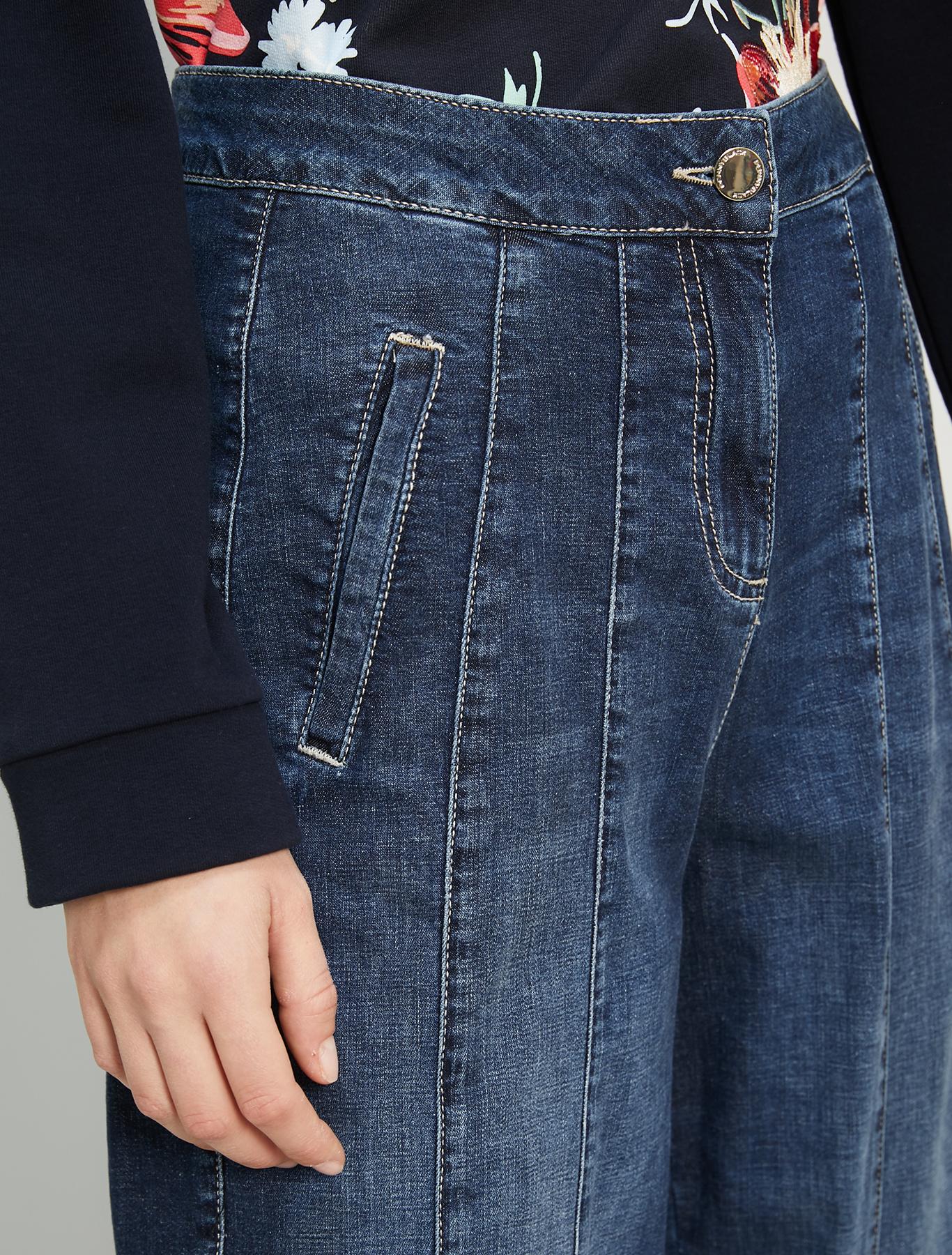 Barrel-leg jeans - cornflower blue - pennyblack