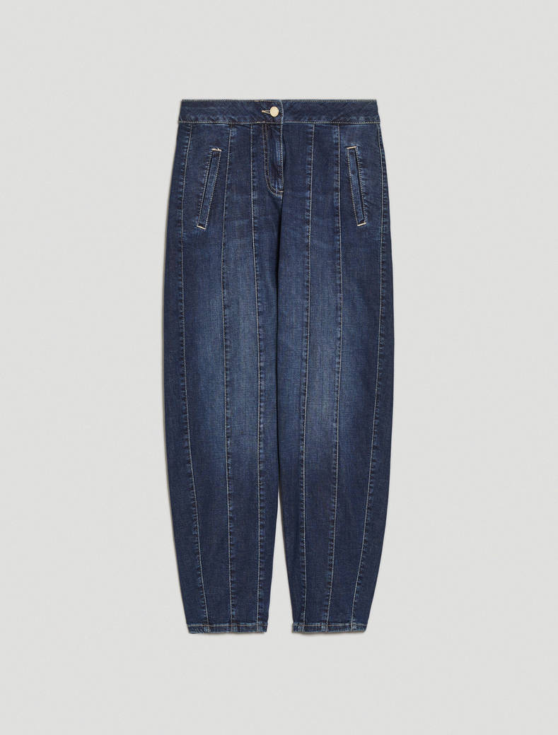 Barrel-leg jeans - cornflower blue - pennyblack