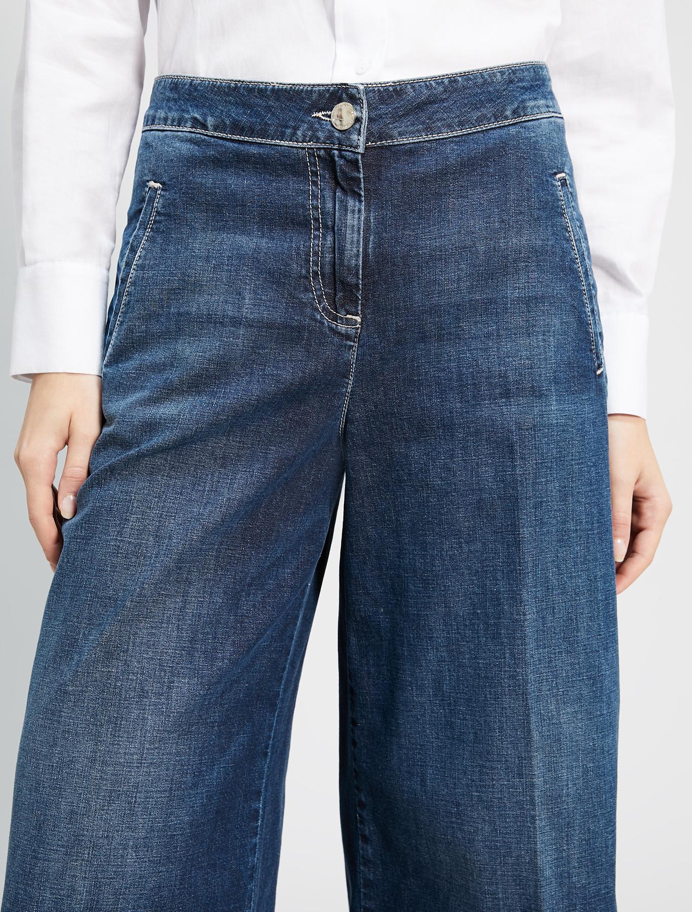 Wide-leg jeans - cornflower blue - pennyblack