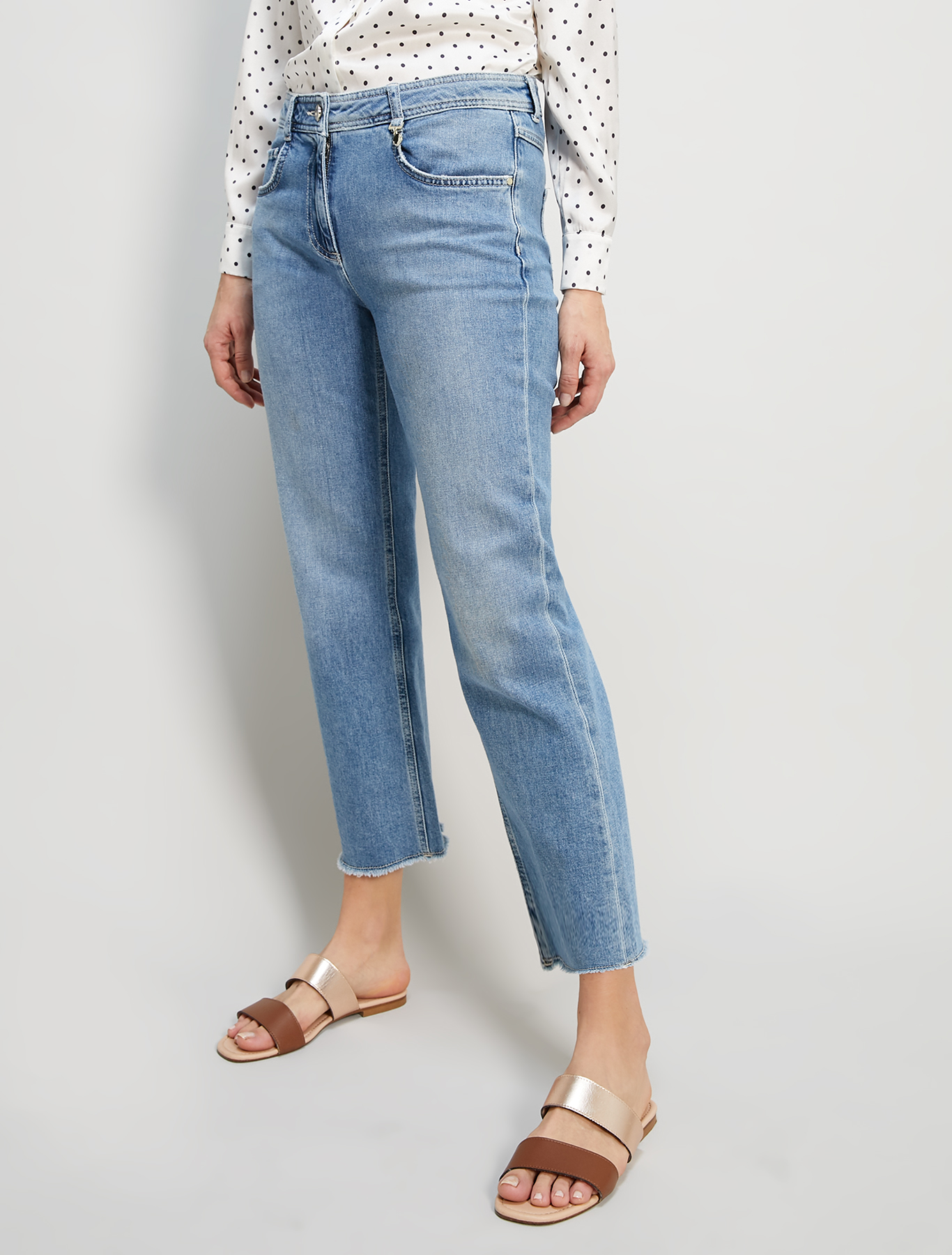 Kick-flare jeans - cornflower blue - pennyblack