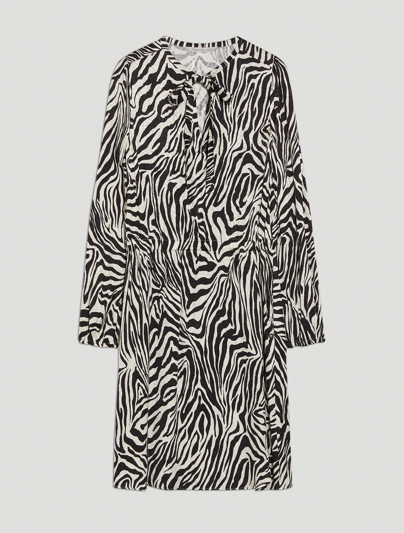 Jacquard zebra-print dress - black pattern - pennyblack