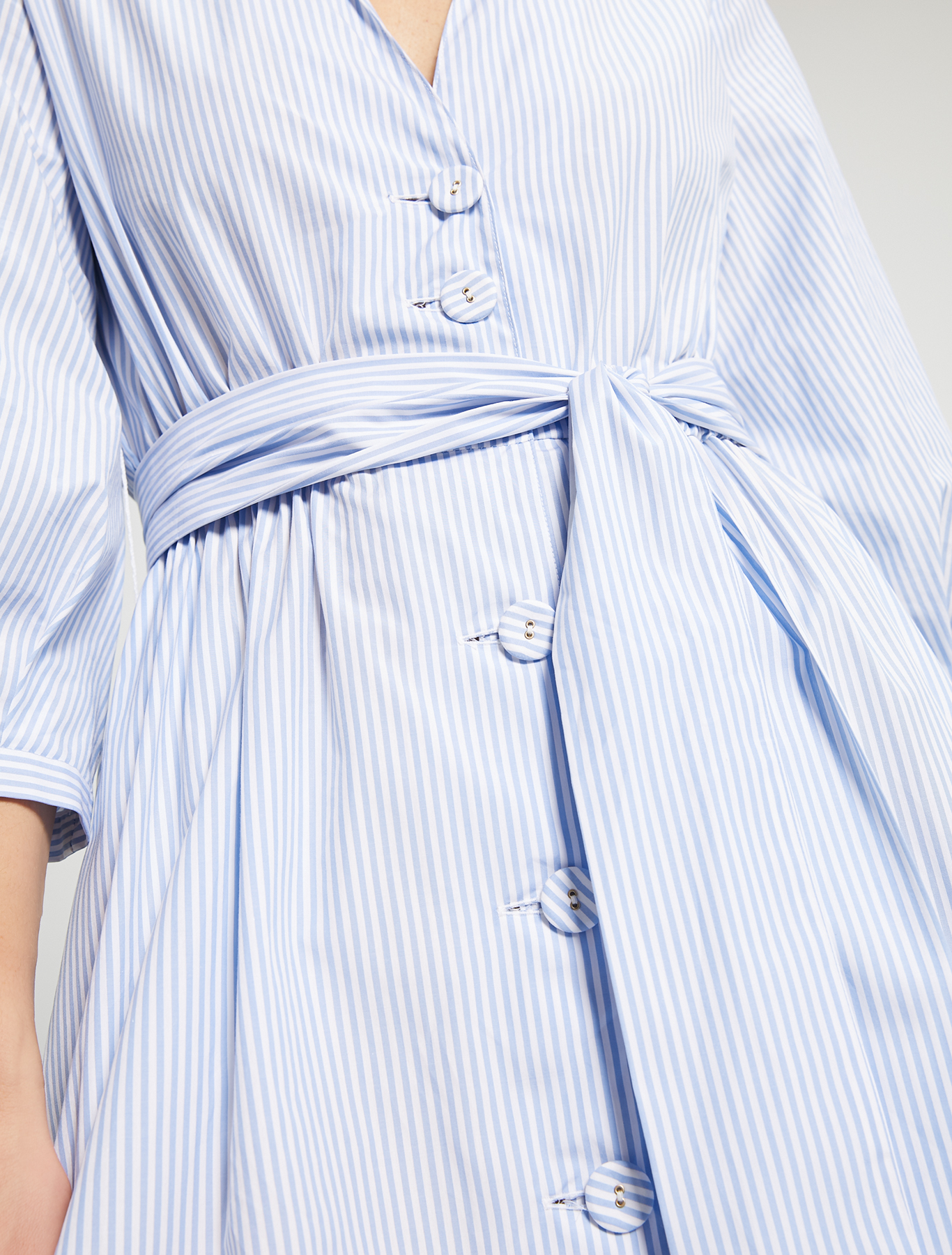 Poplin cotton shirt dress - light blue pattern - pennyblack